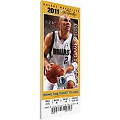 That's My Ticket Dallas Mavericks 2011 NBA Finals Game 5 Canvas Ticket