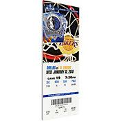 That's My Ticket Dallas Mavericks Dirk Nowitzki 20k Points Canvas Ticket