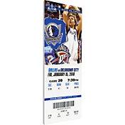 That's My Ticket Dallas Mavericks Dirk Nowitzki Canvas Ticket