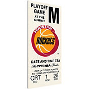 That's My Ticket Houston Rockets 1994 NBA Championship Canvas Ticket