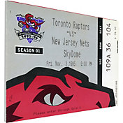 That's My Ticket Toronto Raptors Inaugural Game Canvas Ticket