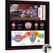 That's My Ticket Alabama Crimson Tide Back-to-Back Champions Canvas Print