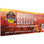 That's My Ticket Auburn Tigers 2011 BCS National Championship Canvas Mega Ticket