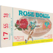 That's My Ticket UCLA Bruins 1976 Rose Bowl Canvas Mega Ticket