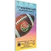 That's My Ticket UCLA Bruins 1986 Rose Bowl Canvas Mega Ticket