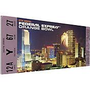 That's My Ticket Colorado Buffaloes 1991 Orange Bowl Canvas Mega Ticket