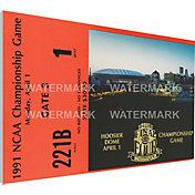 That's My Ticket Duke Blue Devils 1991 NCAA Final Four Canvas Mega Ticket
