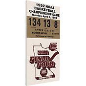 That's My Ticket Duke Blue Devils 1992 NCAA Final Four Canvas Mega Ticket