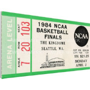 That's My Ticket Georgetown Hoyas 1984 NCAA Basketball Finals Canvas Mega Ticket
