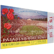 That's My Ticket Ohio State Buckeyes 1960 Rose Bowl Canvas Mega Ticket