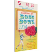 That's My Ticket Ohio State Buckeyes 1974 Rose Bowl Canvas Mega Ticket