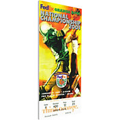 That's My Ticket Oklahoma Sooners 2001 BCS National Championship Canvas Mega Ticket