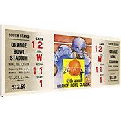 That's My Ticket Oklahoma Sooners 1979 Orange Bowl Canvas Mega Ticket
