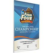 That's My Ticket Kansas Jayhawks 2008 NCAA Final Four Canvas Mega Ticket