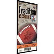 That's My Ticket Kansas Jayhawks 2008 Orange Bowl Canvas Mega Ticket