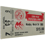 That's My Ticket Louisville Cardinals 1980 NCAA Basketball Finals Canvas Mega Ticket