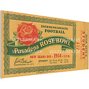 That's My Ticket Michigan State Spartans 1954 Rose Bowl Canvas Mega Ticket