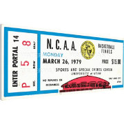 That's My Ticket Michigan State Spartans 1979 NCAA Basketball Finals Canvas Mega Ticket