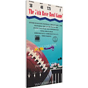 That's My Ticket Michigan State Spartans 1988 Rose Bowl Canvas Mega Ticket