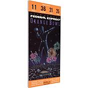 That's My Ticket Notre Dame Fighting Irish 1990 Orange Bowl Canvas Mega Ticket