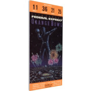 That's My Ticket Notre Dame Fighting Irish 1990 Orange Bowl Canvas Mega Ticket
