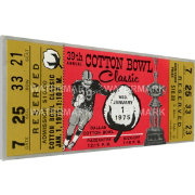 That's My Ticket Penn State Nittany Lions 1975 Cotton Bowl Canvas Mega Ticket