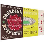 That's My Ticket Iowa Hawkeyes 1957 Rose Bowl Canvas Mega Ticket
