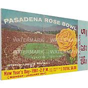 That's My Ticket Washington Huskies 1961 Rose Bowl Canvas Mega Ticket