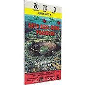 That's My Ticket Washington Huskies 1982 Rose Bowl Canvas Mega Ticket
