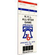 That's My Ticket 1976 NHL All-Star Game Ticket
