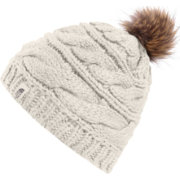 The North Face Women's Triple Cable Fur Pom Beanie