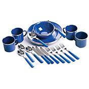 Stansport 24-Piece Enamel Tablewear Set