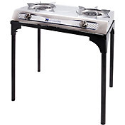 Stansport Two Burner Steel Stove with Stand