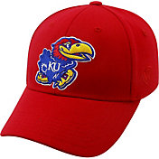 Top of the World Men's Kansas Jayhawks Crimson Premium Collection M-Fit Hat