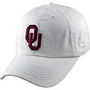 Top of the World Men's Oklahoma Sooners White Crew Adjustable Hat