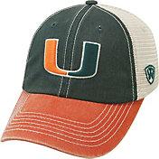 Top of the World Men's Miami Hurricanes Green/White/Orange Off Road Adjustable Hat