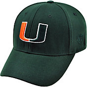 Top of the World Men's Miami Hurricanes Green Premium Collection M-Fit Hat