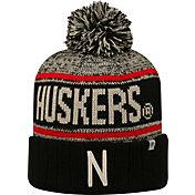 Top of the World Men's Nebraska Cornhuskers Black/White/Scarlet Acid Rain Knit Beanie