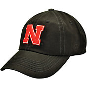 Top of the World Men's Nebraska Cornhuskers Black Crew Adjustable Hat