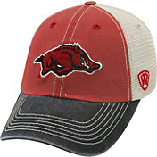 Top of the World Men's Arkansas Razorbacks Cardinal/White/Black Off Road Adjustable Hat