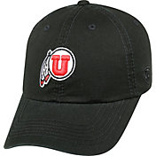Top of the World Men's Utah Utes Black Crew Adjustable Hat