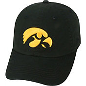 Top of the World Men's Iowa Hawkeyes Black Crew Adjustable Hat