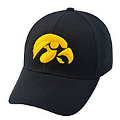 Top of the World Men's Iowa Hawkeyes Black Premium Collection M-Fit Hat