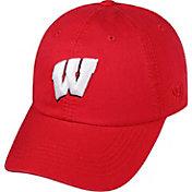 Top of the World Men's Wisconsin Badgers Red Crew Adjustable Hat