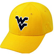Top of the World Men's West Virginia Mountaineers Gold Premium Collection M-Fit Hat