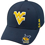 Top of the World Men's West Virginia Mountaineers Blue Booster Plus Football 1Fit Flex Hat