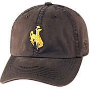 Top of the World Men's Wyoming Cowboys Brown Crew Adjustable Hat