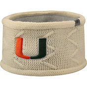 Top of the World Women's Miami Hurricanes Cream Ziggyband Knit Headband