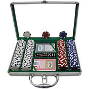 Trademark Poker 200 Dice Striped Chip Poker Set and Case