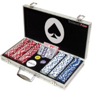 Trademark Poker 300 Maverick Dice Striped Chip Poker Set and Case